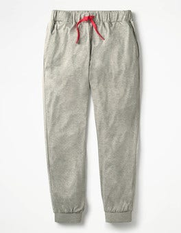 Grey Marl Relaxed Jersey Trousers