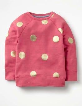 Rose Blossom Pink/Gold Spots Foil Spot Sweatshirt