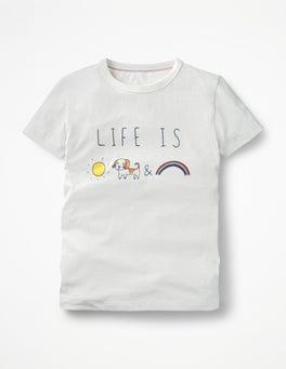 Ivory Rainbow Pet Doodle T-shirt