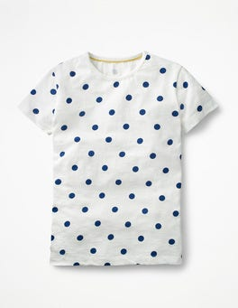 Ivory/Starboard Spot Printed Spot T-shirt