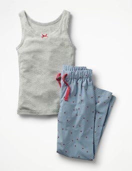 Wren/Ivory Little Star Vest Pyjama Set