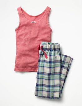 Rosebud Red Checks Vest Pyjama Set