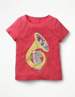 Strawberry Split Pink Mouse Animal Talent T-shirt