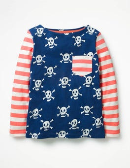 Starboard Blue Skulls Hotchpotch Pocket T-shirt