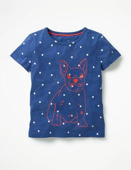 Starboard Navy Dog Neon Stitch T-shirt