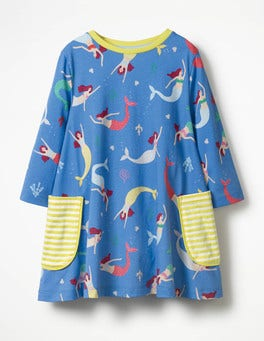 Penzance Blue Mermaid Printed Tunic