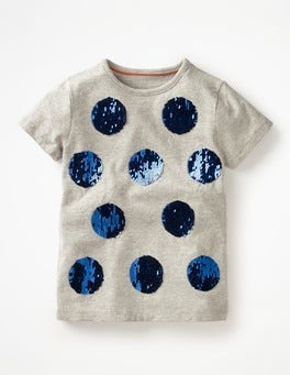 Grey Marl Spot Colour-change T-shirt