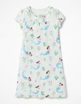 Ivory Mermaid Floral Printed Nightie