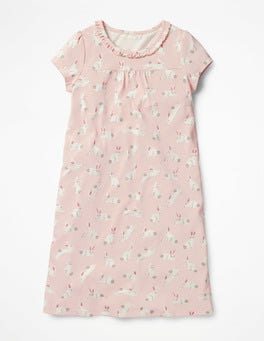 Pale Pink Bunnies Printed Nightie