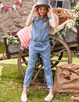 Chambray Stars Jumpsuit