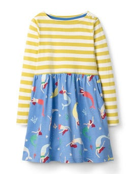 Penzance Blue Mermaids Hotchpotch Jersey Dress