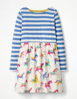 Ecru Carousel Ponies Hotchpotch Jersey Dress