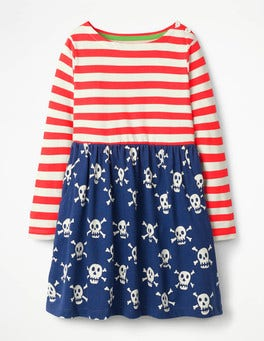 Starboard Blue Skulls Hotchpotch Jersey Dress