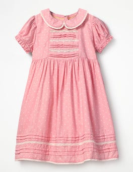 Provence Dusty Pink Spots Printed Nostalgic Woven Dress