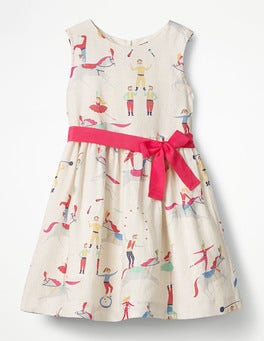 Ecru Acrobats Vintage Dress