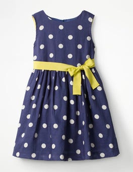 Starboard Blue/Ecru Spot Vintage Dress
