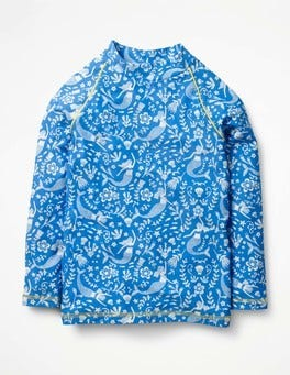 Oasis Blue Mermaid Toile Long-sleeved Rash Guard