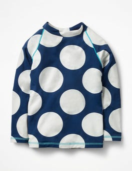 Deep Sea Blue/Ivory Spot Long-sleeved Rash Guard