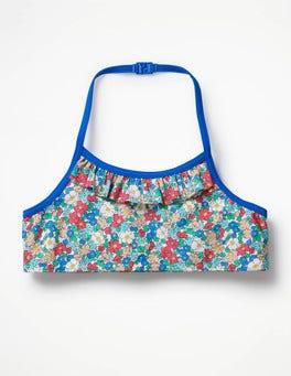 Oasis Blue Floral Pretty Bikini Top