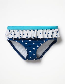 Deep Sea Blue/Ivory Spot Pretty Bikini Bottoms