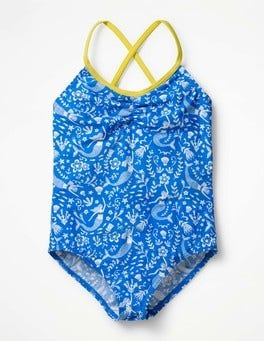 Oasis Blue Mermaid Toile Colourful Printed Swimsuit