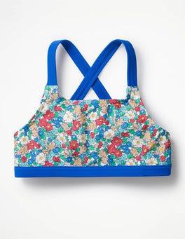 Oasis Blue Floral Surf Bikini Top