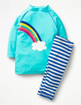 Light Blue Rainbow Sea Explorer Surf Suit