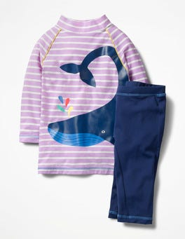 Lavender Purple/Ivory Whale Sea Explorer Surf Suit