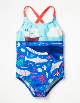 Swim Explorers Cross-back Swimsuit