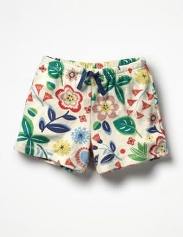Multi Floating Flower Adventure Towelling Shorts