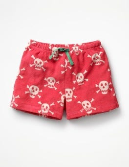 Strawberry Split Pink Skulls Adventure Towelling Shorts