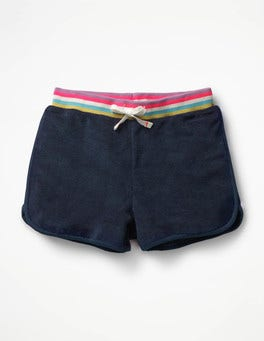 School Navy/Rainbow Towelling Beach Shorts