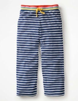 Ivory/School Navy Towelling Sweatpants