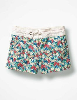 Blue Oasis Vintage Floral Patterned Board Shorts