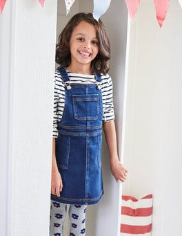 Jersey Denim Dungaree Dress