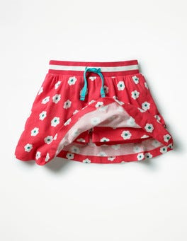 Strawberry Split Pink Daisies Jersey Skort