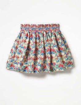 Multi Vintage Floral Smock Skirt