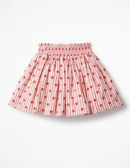 Circus Red Jacquard Spots Smock Skirt