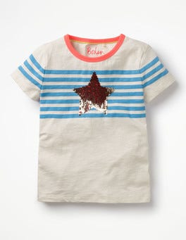 Penzance/Ecru Star Star Colour-change T-shirt