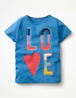 Penzance Blue/Love Printed T-shirt