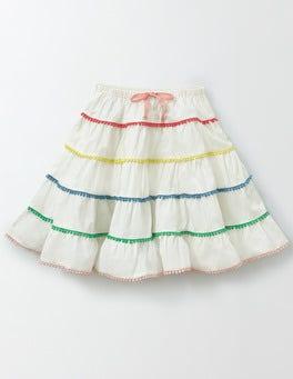 Ivory Twirly Woven Skirt
