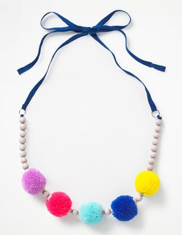 Orion Blue Fabric Necklace
