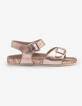Rose Gold Leather Sandals