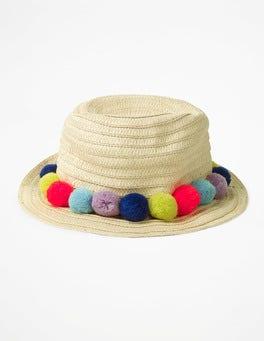Ecru Pompom Hat