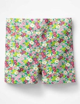 Knockout Pink Vintage Floral Jersey Shorts