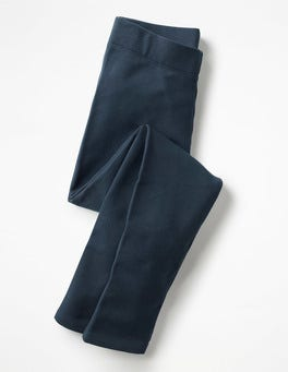 Navy Plain Cosy Leggings