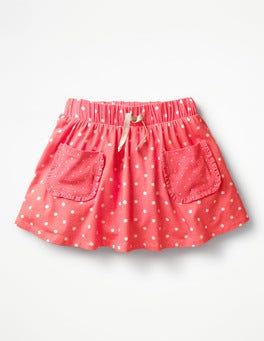 Strawberry Split Pink Spots Spotty Jersey Skort