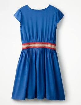 Orion Blue Sporty Woven Dress