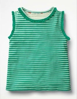 Green/Ivory Pretty Tank Top
