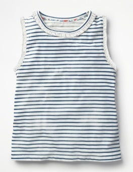 Ivory/Starboard Blue Pretty Vest